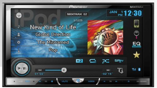 """Pioneer Avh-X5600Bhs 2-Din Multimedia Dvd Receiver With 7"""" Wvga Touchscreen Display"""