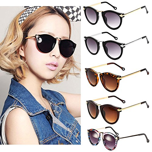 Gant Eyeglass Frames Parts : FUNOC Retro Vintage Fashion Unisex Round Arrow Style Metal ...