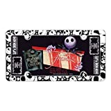 Nightmare Before Christmas Auto Car Truck License Plate Gift Set Skellington Disney & Bonus Air Freshener