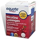 Equate - Nicotine Lozenge 2 Mg, Stop Smoking Aid, Cherry Flavor, 108-Count ~ Equate