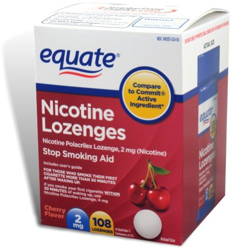 Equate – Nicotine Lozenge 2 Mg, Stop Smoking Aid, Cherry Flavor, 108-Count
