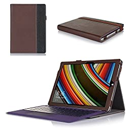 ProCase Folio Cover Case with Stand for Microsoft Surface Pro 3 (3rd Generation) Windows 8.1 Tablet (12-Inch) (Brown/Black)
