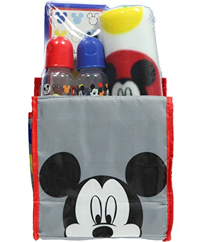 "Mickey Mouse ""Pure Joy"" 5-Piece Diaper Bag Gift Set - gray, one size - 1"