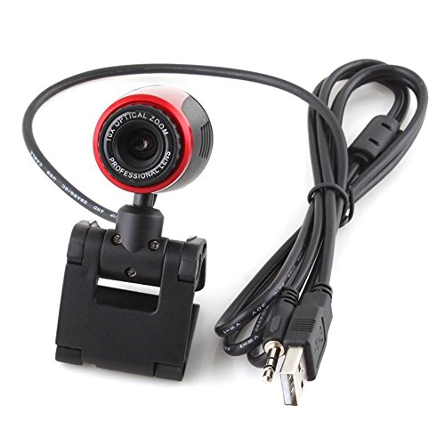 Usb 2.0 Clip Webcam Web Camera 10X Optical Zoom W/ Mic Microphone For Laptop Pc Desktop