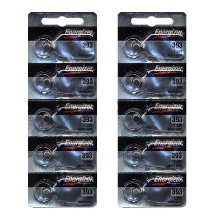 Energizer 393 Silver Oxide 10 Batteries (SR754W)