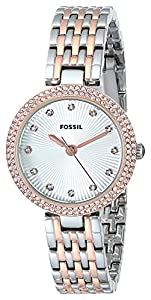 Fossil Women's ES3640 Analog Display Analog Quartz Silver Watch