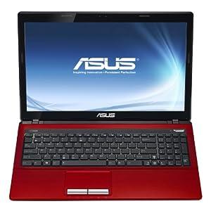 "ASUS X53E-SB31-RD 15.6"" LAPTOP COMPUTER, Core i3-2310M 2.1GHz, 500GB HDD, 4GB MEMORY, WEBCAM, WINDOWS 7 HOME PREMIUM 64 BIT (RED)"