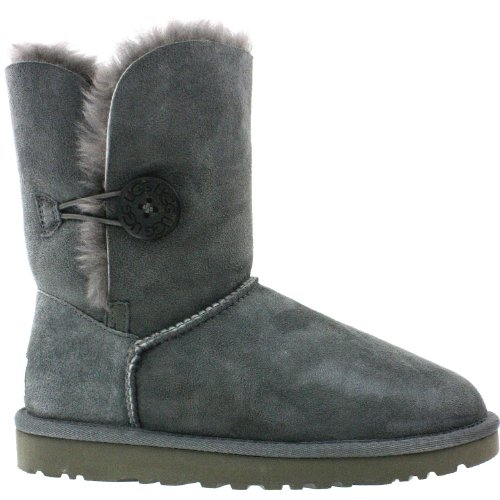 UGG Australia Womens Bailey Button Grey Boot - 8