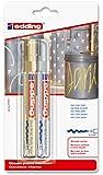 edding Glanzlack-Marker mit Rundspitze, 2-stück, gold und silbern