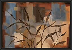 38in x 26in Abstract Intention II by Carol Robinson - Black Floater Framed Canvas w/ BRUSHSTROKES