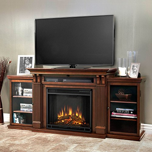 Real Flame 7720E Calie Entertainment Unit with Electric Fireplace, Large, Dark Espresso (Real Flame Fireplace compare prices)