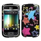MyBat LG Phoenix / Optimus T Phone Protector Cover - Chalkboard Star Black