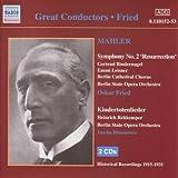 Mahler-Symphony No. 2 / Kindertotenlieder/Des Knaben Wunderhornby Heinrich Schlusnus