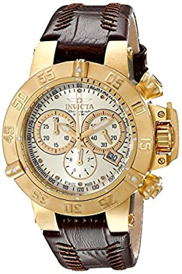 Invicta Women's 80536 Subaqua Analog Display Swiss Quartz Brown Watch