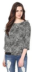 Harpa Women's Body Blouse Shirt (GR2640-Black_Medium)