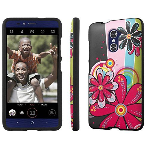 US Cellular [ZTE Imperial Max] Phone Case [NakedShield] [Black] Total Armor Protection [Shell Snap] - [Daisy Pop] for ZTE [Imperial Max / Z963U] (Zte Imperial Phone compare prices)