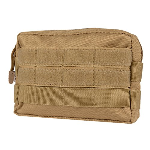 MOLLE Pouches - Compact Water-resistant Multi-purpose Tactical EDC Utility Gadget Gear Hanging waist Bags(Horizontal rectangle Pouch ,Tan ) (High Waist Griddle compare prices)