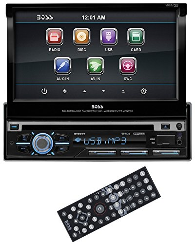 BOSS AUDIO BV9977 Single-DIN 7 inch Motorized Touchscreen DVD Player Receiver, Detachable Front Panel, Wireless Remote (Chevy Camaro Bluetooth compare prices)