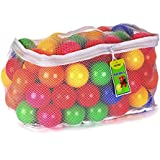 Click N' Play Pack of 100 Phthalate Free PBA Free Crush Proof Plastic Ball, Pit Balls - 6 Bright Colors in Reusable and Durable Storage Mesh Bag with Zipper