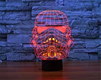 SmartEra® 3D Star Wars Clone Trooper Positive Panel Model Night 7 Color Change USB Touch button LED Desk Table Light Lamp from SmartEra®