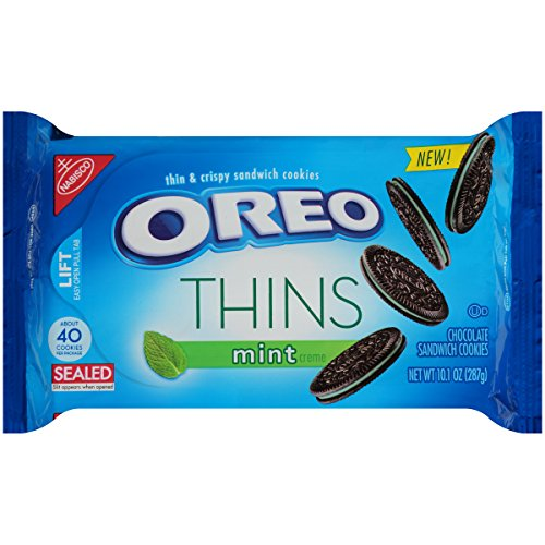 Oreo Thins Mint Sandwich Cookies, 10.1 Ounce