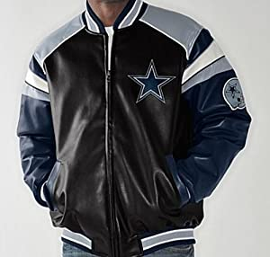 NFL Dallas COWBOYS Home Team Leather-Like Jacket ~ LARGE by G 111