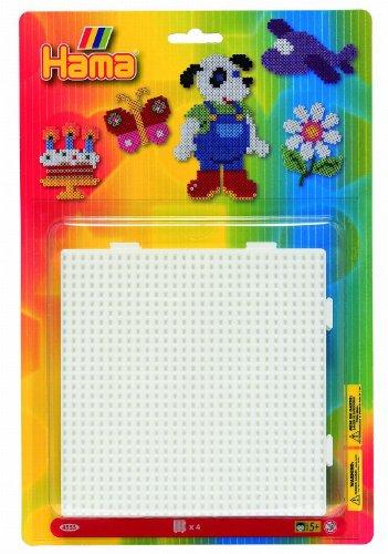Hama 4553 - Stiftplatten zum Zusammenstecken, quadratisch, 4-er Set von Hama