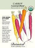 Organic Carnival Blend Carrot Seeds - 700 mg