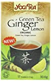 Yogi Tea Green Tea Ginger Lemon 17 Teabags (Pack of 6 Total 102 Teabags) (Organic)