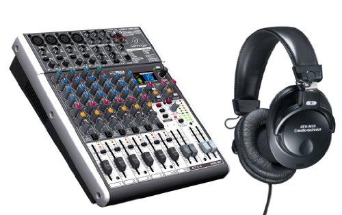 Behringer X1204Usb Xenyx Mixer With Ath-M30 Studio Headphones