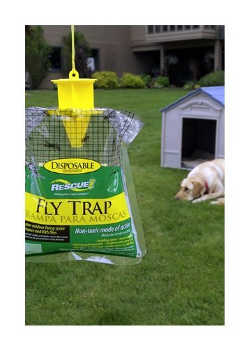 rescue 2 pack outdoor disposable fly catcher control trap with new
