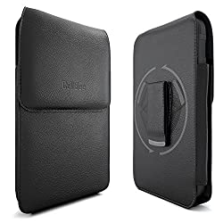iPhone 6s Holster, CellBee Premium Leather Pouch Carrying Case with Belt Clip Belt Swivel Holster for Apple iPhone 6 6s 4.7 Inch (Perfect Fits Otterbox / LifeProof Case) (The Vertical)