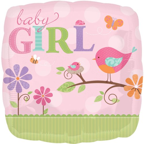 "Anagram International Tweet Baby Girl Foil, 18"", Multicolor"