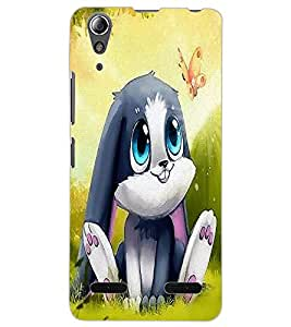 ColourCraft Cute Rabbit Design Back Case Cover for LENOVO A6000 PLUS