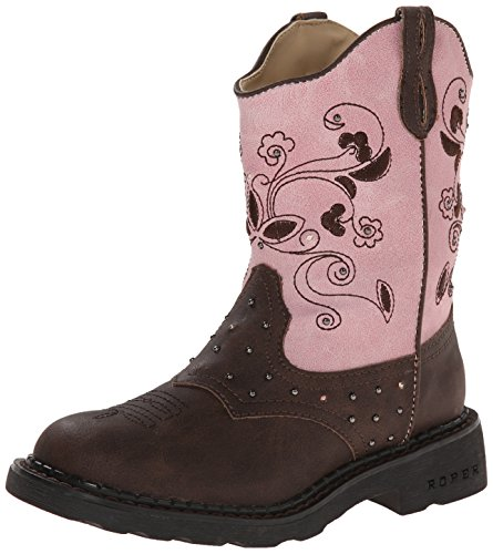 Roper-Saddle-Light-Round-Toe-Cowgirl-Boot-ToddlerLittle-Kid