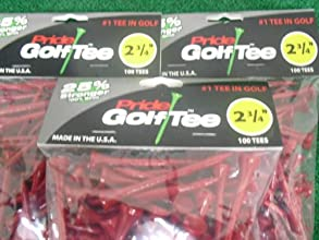 Pride Golf Tee Birch 2 34quot Tees 3x100 Ct Bags Red