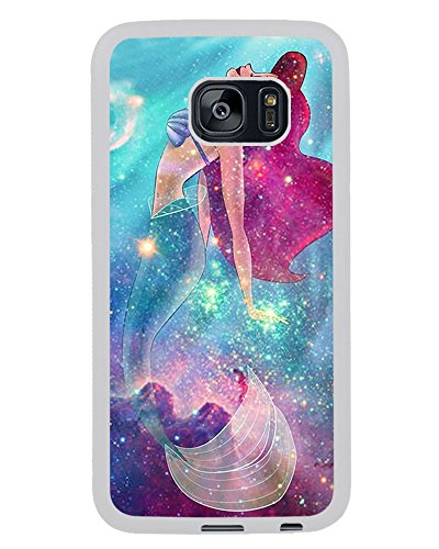 BALAQUINN - Samsung S7 Edge Case,Ariel Little Mermaid Rubber Case (White) for Samsung Galaxy S7 Edge