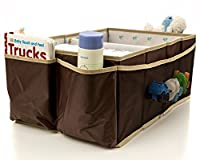 Buzzy Babee Diaper Caddy - Walnut/Coffee, Large - The Ultimate Diaper Organizer for Baby from Buzzy Babee