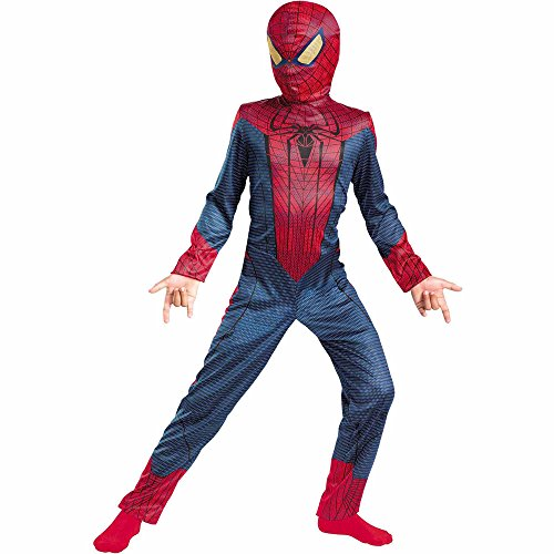 Boy's Costume: Spider-Man Movie Basic 7-8 - 1
