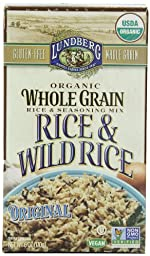 Lundberg Organic Whole Grain and Wild Rice, Original, 6 Ounce (Pack of 6)
