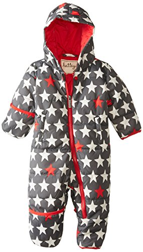 Hatley Baby-Boys Infant Winter Puffer - Bright Stars, Gray, 18-24 Months front-1079081
