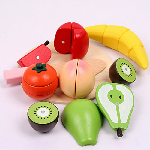 MasterPro Wooden Cutting Fruit Set