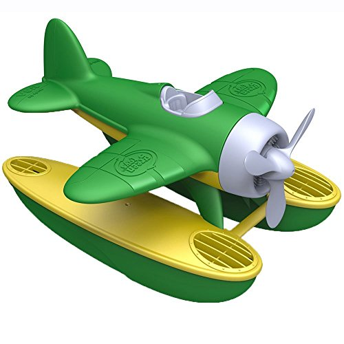 Green Toys Seaplane Vehicle Playsets Toy fot Kids, Green