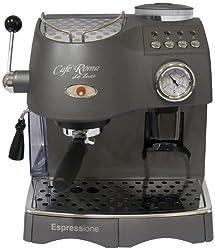 Espressione Café Roma Deluxe Espresso Machine with Built-in Grinder, Anthracite Grey, Garden, Lawn, Maintenance by Garden-Outdoor
