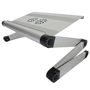 BBSLT Tavolo per PC portatile elegante alluminio, scrittorio del calcolatore radiatore pieghevole, tavolo di studio dormitorio per pigri