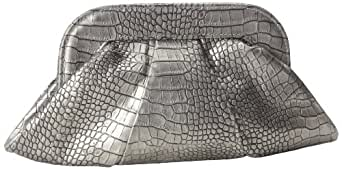 Lauren Merkin Lucy LU7S327 Clutch,Pewter Metal Crocodile,One Size