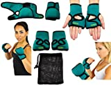 Weighted Gloves (1 LB. Each Glove) - Piloxing Gloves, Sculpting for Men & Women - Deluxe Designer Heavy Duty Cardio Fitness Aerobic Weighted Hand Gloves for Hand Speed, Coordination, Shoulder Strength - Great For Turbo Jam, Piloxing, MMA, Kickboxing - Start Sculpting Today With a 60 Day Money Back Guarantee