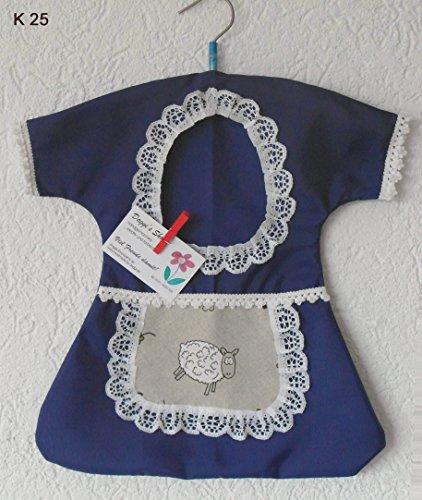 Klammerkleid et sacoche pour pinces à linge, klammerkleidchen, clothespin bag