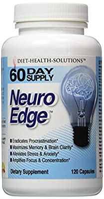 Brain Supplement   2 Month Supply   Mental Clarity - Focus - Concentration   Reduce Stress and Anxiety - GABA   Pharmaceutical Grade - DMAE - Huperzine - Vinpocetine   Increase Energy   NOOTROPIC - Backed by science