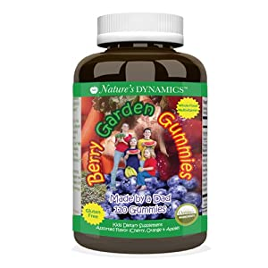 Berry Garden Gummies Organic, Whole Food, Children's Multivitamin (assorted 120 count)